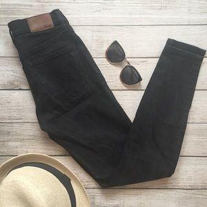 "Madewell Black 9"" High Riser Skinny Skinny Jeans"
